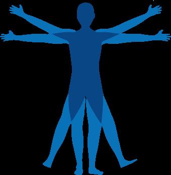 H&EU logo vitruvian man